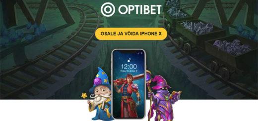 Täida Optibet kasiinos lihtsaid ülesandeid ja võida iPhone X