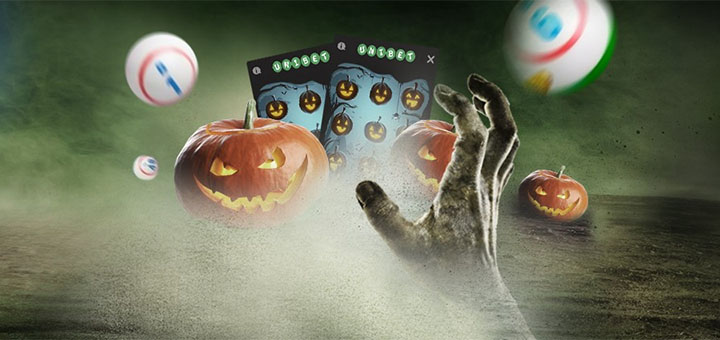 Unibet Bingo Halloweeni kraapekaardid - pärisraha, tasuta bingopiletid ja tasuta spinnid