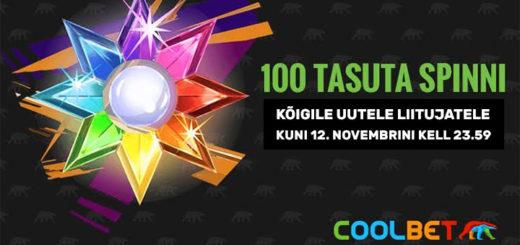 Coolbet kasiino - uutele liitujatele tasuta spinnid mängus Starburst