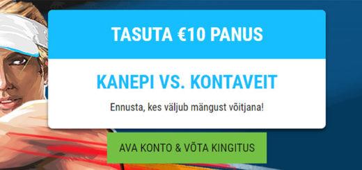 Eesti Meedia Tennis Cup - Kaia Kanepi vs. Anett Kontaveit tasuta €10 panus