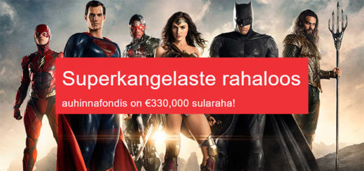 OlyBet kasiinos Superkangelaste rahaloos - auhinnafond 330 000 eurot