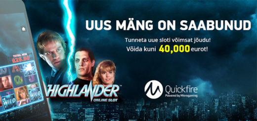 Highlander Online Slot €40 000 rahasadu Kingswin kasiinos