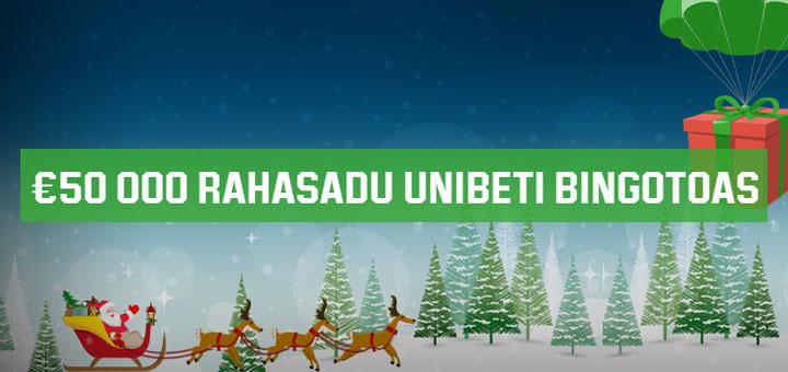 Unibet Bingo jõuluvana rahasadu