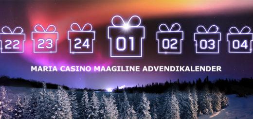 Maria Casino advendikalender 2017 - tasuta spinnid, kasiino boonused jpm