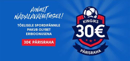 OlyBet Sport - igal nädalavahetusel spordiennustuses 30 eurot pärisraha