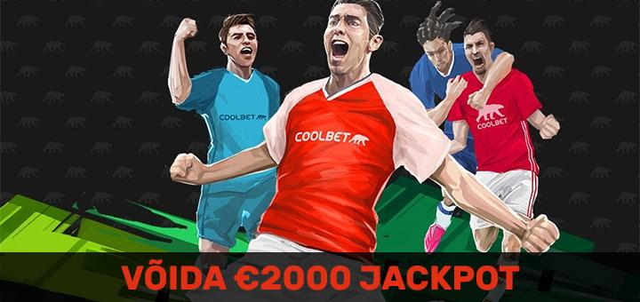 Tee Inglise jalgpallile mitmikpanus ja võida €2000 jackpot