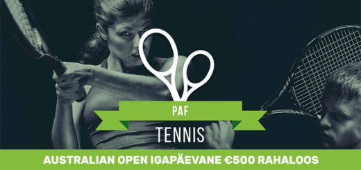 Australian Open 2018 Grand Slam rahaloos mänguportaalis Paf