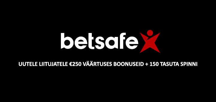 Betsafe Eesti kasiino tervitusboonuste pakett