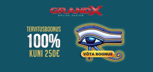 GrandX Online kasiino sissemakse boonused