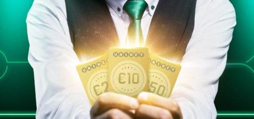 Kuldsed rahakaardid Unibet live kasiino Blackjack laudades