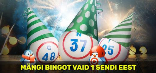 Mängi online bingot vaid ühe sendi eest