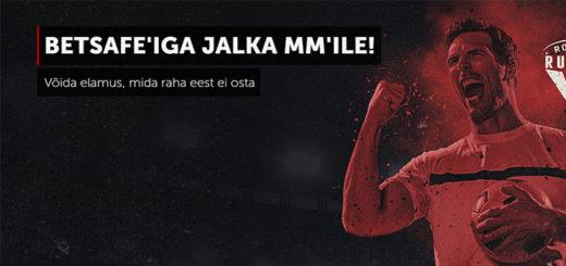 Betsafe Eesti tasuta ennustusmäng - võida reis Jalgpalli MM'ile