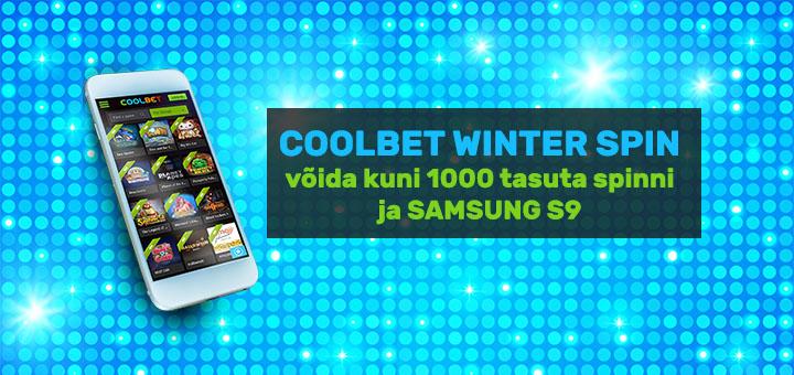 Coolbet Winter Spin - tasuta spinnid ja Samsung S9