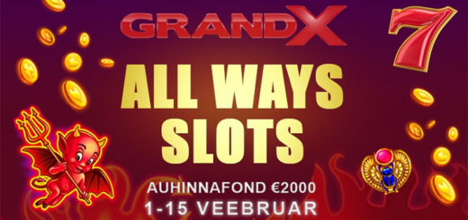 GrandX All Ways Slots €2000 kasiinoturniir