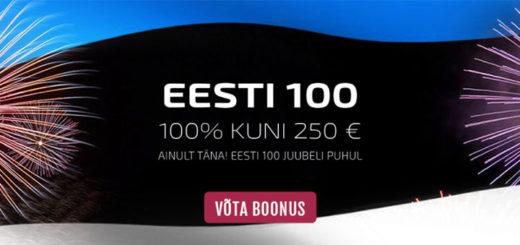 GrandX kasiinos Eesti 100. sünnipäeva puhul kasiino boonus