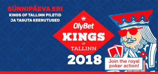 OlyBet internetikasiino sünnipäev - tasuta keerutused ja Kings of Tallinn piletid