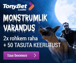 TonyBet kasiino boonus ja tasuta spinnid