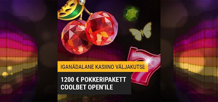 Coolbet kasiino väljakutse - võida Coolbet Open €1200 pokkeripakett