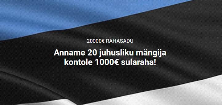 Unibet annab Eesti mängijatele €20 000 tasuta raha