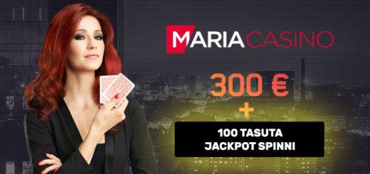 Maria Casino boonused - eksklusiivne €300 boonus + tasuta jackpot spinnid