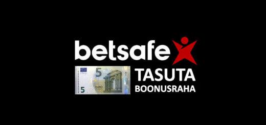 Betsafe kasiinos uutele liitujatele 5 eurot tasuta boonusraha
