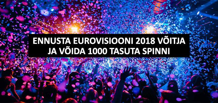 Eurovisiooni teemaline Chanzpool - võida 1000 tasuta spinni