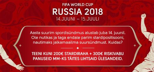 Jalgpalli MM 2018 pakkumistekalender OlyBet spordiennustuses