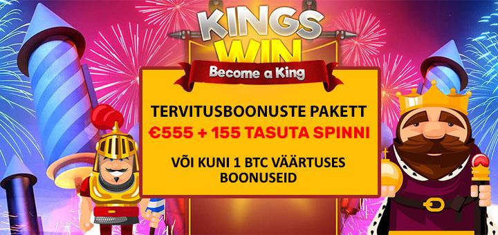 Kingswin kasiino boonused - tervituspakett ja tasuta spinnid