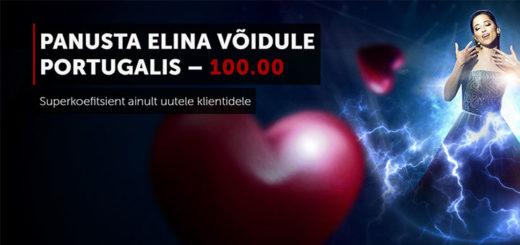 Panusta Elina Nechayeva Eurovisiooni võidule 100.00 superkoefitsiendiga