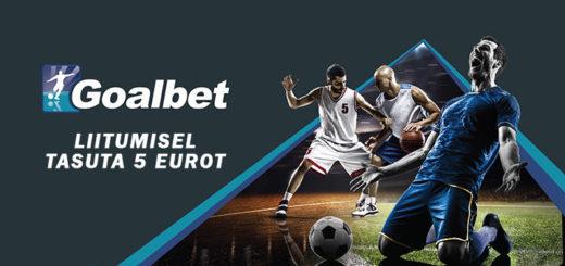 Goalbet spordiennustus - liitu ja saad tasuta 5 eurot