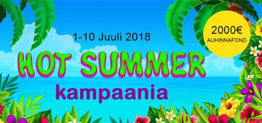 GrandX Hot Summer kasiinoturniir - auhinnafondis 2000 eurot