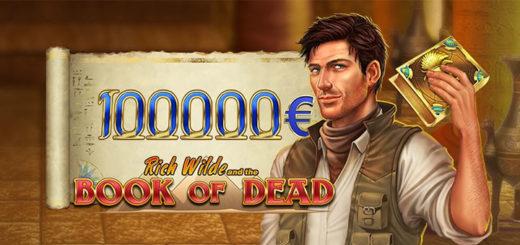 Optibet kasiinos võideti just €100 000 mängus Book of Dead
