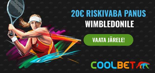 Wimbledon 2018 100% riskivaba panus Coolbet spordiennustuses