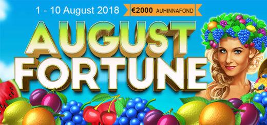 August Fortune kasiinoturniir GrandX Online kasiinos