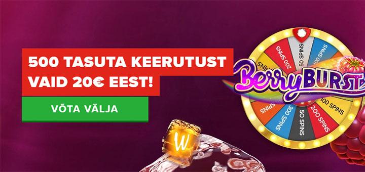 Berryburst tasuta spinnid Optibet kasiinos