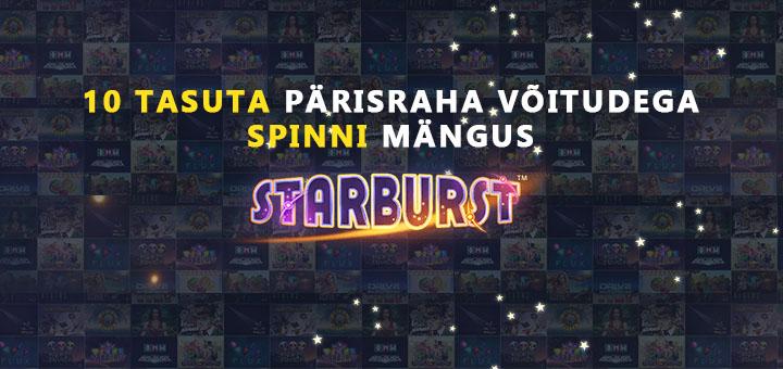 Chanz kasiinos uuele liitujale tasuta spinnid mängus Starburst