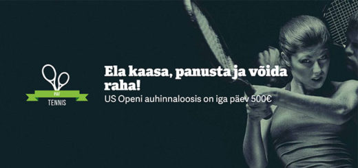 US Open tenniseturniiri rahaloos mänguportaalis Paf