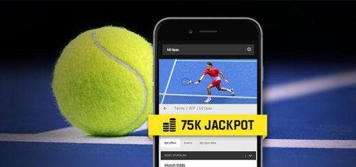 US open tenniseturniiri jackpotid Unibet spordiennustuses