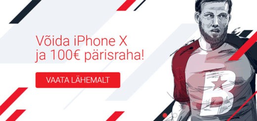 Võida OlyBetis spordipanuseid tehes iPhoneX ja €100 pärisraha