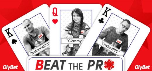 Beat the Pro pokkeriturniir toimub igal kolmapäeval OlyBet pokkeritoas