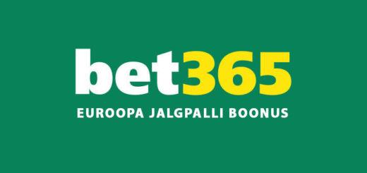 Bet365 Euroopa jalgpalli boonus - kuni 100% suurune kasumivõimendus