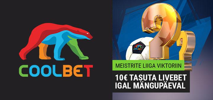 Coolbet Meistrite Liiga Viktoriin (tasuta ennustusmäng) igal mängupäeval