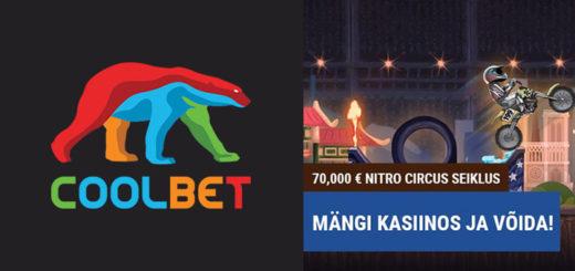 Coolbet kasiino ülesanded - võida Nitro Circus seiklus või sularaha
