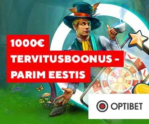 Optibet kasiino - Parim tervitusboonus Eestis