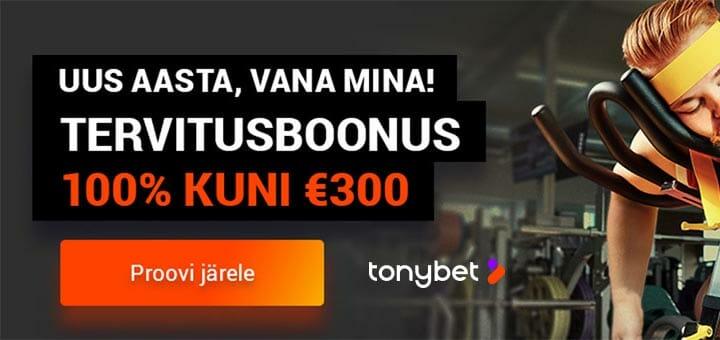 Tonybet Eesti kasiino- live kasiino ja spordiboonused 2019