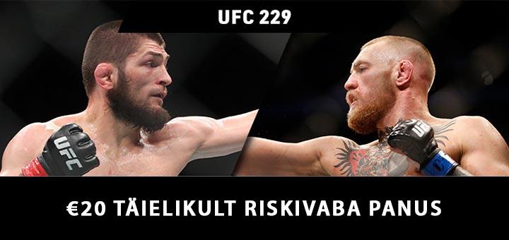 Conor McGregor vs Khabib Nurmagomedov riskivaba panus Coolbet Eesti kihlveokontoris