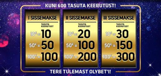 OlyBet kasiinos uutele liitujatele tasuta spinnid ja riskivaba panus