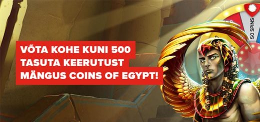Optibetis Coins of Egypt õnneratas ja kohesed tasuta spinnid