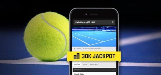 Paris Masters ATP 1000 tenniseturniir - panusta Unibetis ja osaled €30 000 loosimisel