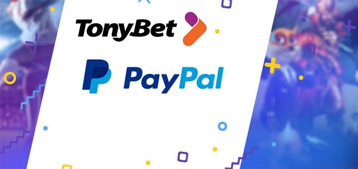 Paypal maksed TonyBet Eesti õnnemängude portaalis
